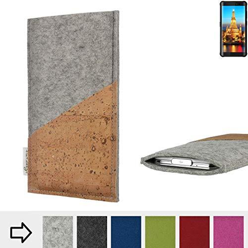 flat.design Handy Hülle Evora für Energizer H590S Schutz Tasche Kartenfach Kork passgenau handgefertigt fair