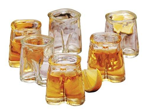 Eddingtons juego de 6, 1,5 oz vasos de chupito de cristal, pantalones