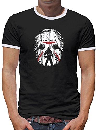 (Touchlines Jason Friday Night Kontrast T-Shirt Herren S Schwarz)