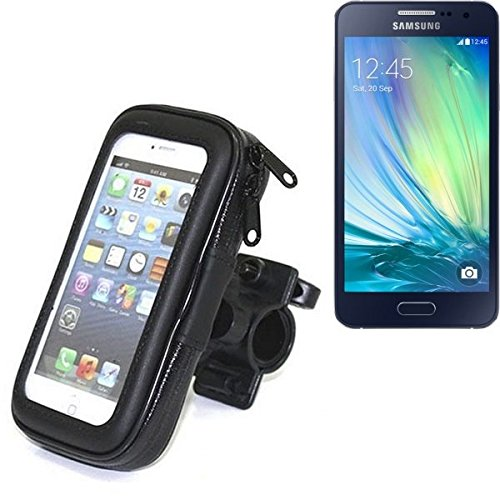 Für Samsung Galaxy A5 Fahrrad Halterung Handy Halterung Lenkstange Fahrrad Halter Motorrad Bike mount Smartphone Halter für Samsung Galaxy A5 Wasserabweisend, regensicher, spritzwasserdicht - K-S-Trade(TM)