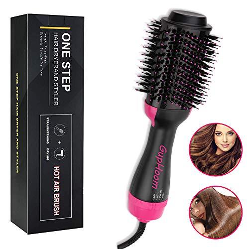 Brosse Soufflante, One Step Hair Dryer & Volumizer, Sèche-Cheveux Brosse à Cheveux Electrique Multifonctionnels fer à friser Défrisant Bigoudi et Styler Brosse à Cheveux à ions Négatifs