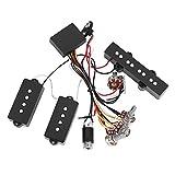 Tbest Elektrisch Bass Preamp Wiring Circuit Pickup Ersatz Zubehör für Bass Gitarre Pickup