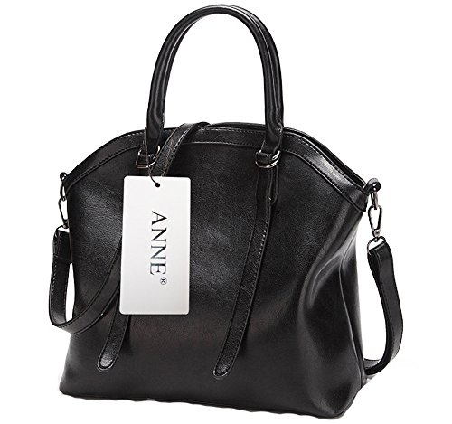 Anne, Borsa tote donna nero Red Wine Black