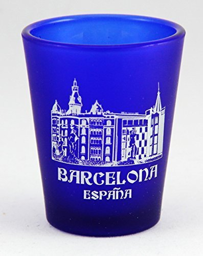 5x6cm style shot glass;Measures 2.5 tall and 2 in diameter;Souvenir from Barcelona;Very rare and hard to find item