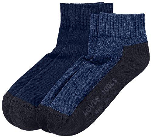 Levi's Herren Socken 168LS MID CUT 2P, Gr. 39/42, Blau (mid denim 824) Preisvergleich