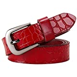 WANSGN Donna Cintura Cinture In Vera Pelle Per Donna Moda Fibbia Con Fibbia Ad Ardiglione Cintura Donna Di Alta Qualità Cinturino In Pelle Di Vacchetta Blu