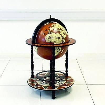 Gran globo de bebidas armario Mini Bar con ruedas diseño retro de alcohol licor