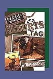 AvanCarte GmbH Jäger Geburtstag Karte Grußkarte Waidmannsheil Gewehr Hirsch 16x11cm
