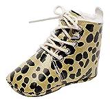 REALIKE Babyschuhe Kinder Kleinkind Prewalker Leopard Schuhe Druck Schnüren Stiefel Warme Winter Stiefel Weiche Sohle Weiche Sohle Anti-Rutsch Krabbelschuhe Babyhausschuhe