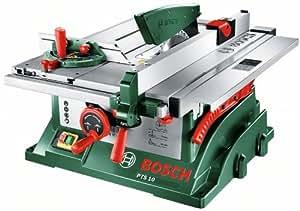 Bosch DIY Tischkreissäge PTS 10, Spaltkeil, Tischverlängerung, Winkelanschlag, Absaugschlauch, Karton (1400 W, Kreissägeblatt Nenn-Ø  254 mm, Schnitttiefe bei 90° 75 mm)