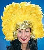 Orlob Samba Kopfschmuck mit Federn gelb Einheitsgröße