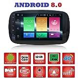 ANDROID 8.0 GPS USB WI-FI Bluetooth autoradio navigatore Smart Fortwo W453 2014, 2015, 2016, 2017