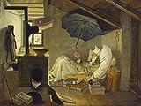 Artland Qualitätsbilder I Poster Kunstdruck Bilder 40 x 30 cm Menschen Mann Malerei Braun A2BN der Arme Poet 1839