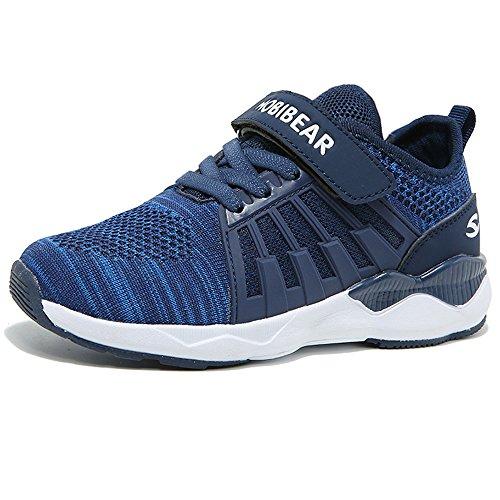 Turnschuhe Kinder Hallenschuhe Jungen Sportschuhe Mädchen Laufschuhe Sneaker Outdoor für Unisex-Kinder  30 EU=31 CN,  Blue