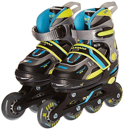 nijdam-paire-de-rollers-rglables-pour-enfant-34-37-schwarz-limone-blau