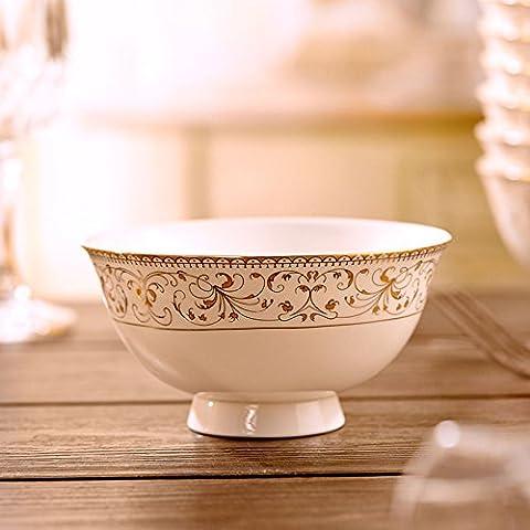 Hot High-proof Bol d'instantané Bol à nouilles en porcelaine anglaise Bol de Phnom (Servizio Burner)