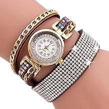 Scpink Women Watches,Fashion Rhinestone Bracelet Watch Quartz Watch Ladies Watches Female Watches Round Dial