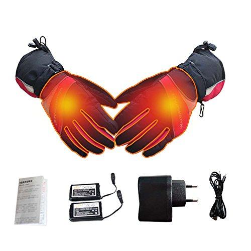 Beheizte Handschuhe, Samber Wiederaufladbare Beheizbare Handschuhe mit Wärmere Liner für Outdoor Klettern Wandern Radfahren Snowboarden (Damen)