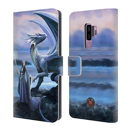 Head Case Designs Offizielle Anne Stokes Neue Horizonte Drachen Freudenschaft Leder Brieftaschen Huelle kompatibel mit Samsung Galaxy S9+ / S9 Plus Horizont Netzteil