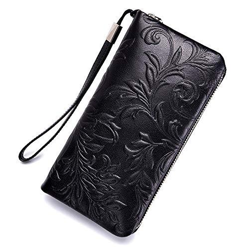 Style Herren Geldbörsen Lange Brieftasche Leder Clutch-Tasche Handy-Kupplung Massenbeutel gezippt