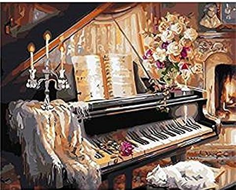 Bricolage numérique toile peinture à l'huile de décoration en nombre Kits 16 * 20 pouces (Sans Cadre, R8270)