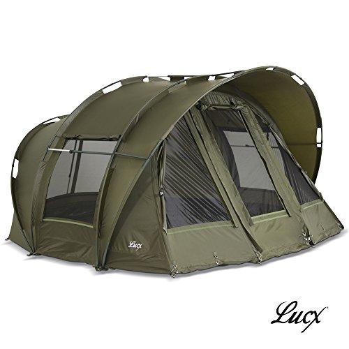 Lucx® Bivvy \'Leopard\' Zelt/Angelzelt 1-3 Mann Karpfenzelt - Carp Dome - Fishing Tent - Campingzelt 10.000mm Wassersäule