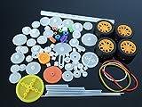 YJZ 78pcs Plastikmotor-Zahnr?der M0.5 Wellen-Rad-Gurt-Roboter-Modell-Hubschrauber-Auto