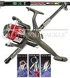 9ft Carbon Telescopic Mackerel/Predatory/Sea Spinning Fishing Starter/Travel Kit