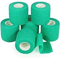 YuMai elastische Haftbandagen, 5cm x 2,5m, durch FDA genehmigt, türkis,6Stück preisvergleich bei billige-tabletten.eu