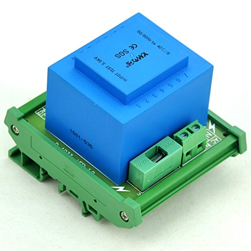 electronics-salon P 230VAC, S 24VAC, 20VA DIN Rail Mount Power Transformer Module, d-1033t/R, AC24V -