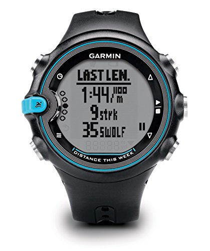 Garmin Swim Activity Tracker per Nuoto, Colore Nero/Celeste