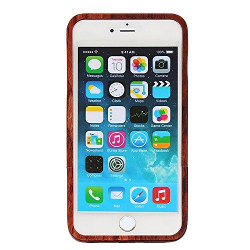 Holz Hülle für iPhone 7 Forepin® Natur Holzhülle aus Echtem Hart Bumper Cover Schutz Elegant Natürlichem Rosewood Case für iPhone 7 (4.7 Zoll) Smartphone Vogel