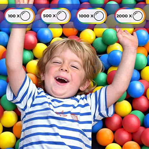 Infantastic Babybälle für Bällebad   100, 500, 1000 oder 2000 Stück, Ø 5.5cm, 5 Farben vermischt   Bälle, Kinderbälle, Plastikbälle, Bällepool