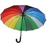 XXl Schirm RAINBOW II Regenschirm Partnerschirm Regenbogen  120cm Damen Automatik
