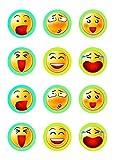 Muffinaufleger Cupcakes Muffins Kindergeburtstag Smiley Smileys SM02