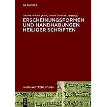Erscheinungsformen Und Handhabungen Heiliger Schriften (Materiale Textkulturen)