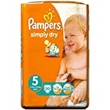 Pampers Simplement Sec Pack Couches Taille 5 De Transport - 20 Langes -