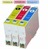 Multipack - 3 Druckerpatrone Kompatibel zu Epson T0612, T0613, T0614 Stylus D68, DX3800, DX3850, DX4200, DX4250, DX4800, DX 4850, DX5850