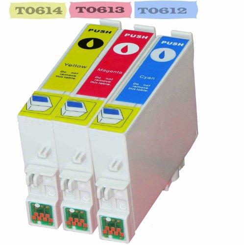 epson stylus dx4200 Multipack - 3 Druckerpatrone Kompatibel zu Epson T0612, T0613, T0614 Stylus D68, DX3800, DX3850, DX4200, DX4250, DX4800, DX 4850, DX5850