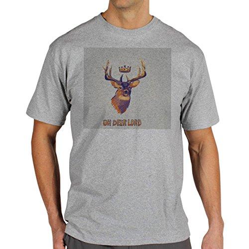 Oh Deer Lord Background Herren T-Shirt Grau