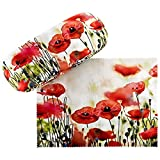 VON LILIENFELD Brillenetui Hardcase Box Floral Motiv Mohnblumen