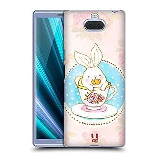 Head Case Designs Tea And Cookie Adorable Bunnies Hard Back Case for Sony Xperia XA3 Ultra