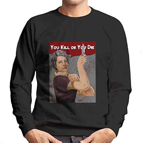 Cloud City 7 Walking Dead Carol You Kill Or You Die Rosie Riveter Pose Men's Sweatshirt