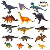 Estela Dinosaur Spielzeug Set,16 Pcs Realistische Kleine Dinosaurier Figur Modell, Dinosaurier Spielzeug Kindergeburtstag Party Dekoration
