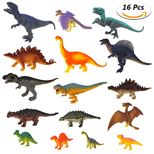 Estela Juego de Dinosaurios, 16 PCS...