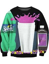 Ecollection® Der digitaldruck Unisex Digital Print Tops Fashion Sweatshirt Pullover Adventure Time Finn Jake