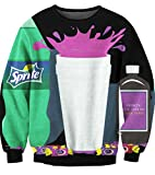 ecollection Der Digitaldruck Unisex Digital Print Tops Fashion Sweatshirt Pullover Adventure Time Finn Jake (Sprite 1)