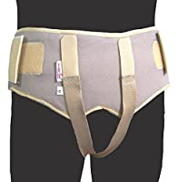 Wonder Care- Double Inguinal Hernia Support Belt - Truss Brace with two pressure pads (5 sizes)