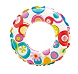 Intex Kinder Lively Print Swim Rings, Pink Octopus/Coral Reef Fish/Realistic Starfish, 51