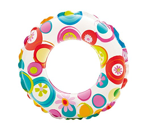 Intex Kinder Lively Print Swim Rings, Pink Octopus/Coral Reef Fish/Realistic Starfish, 51
